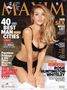 Рози Хантингтон-Уитли на обложке Maxim (фото 1)